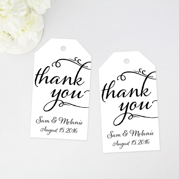 Thank You Favor Tag - Large Size - 40 Pieces