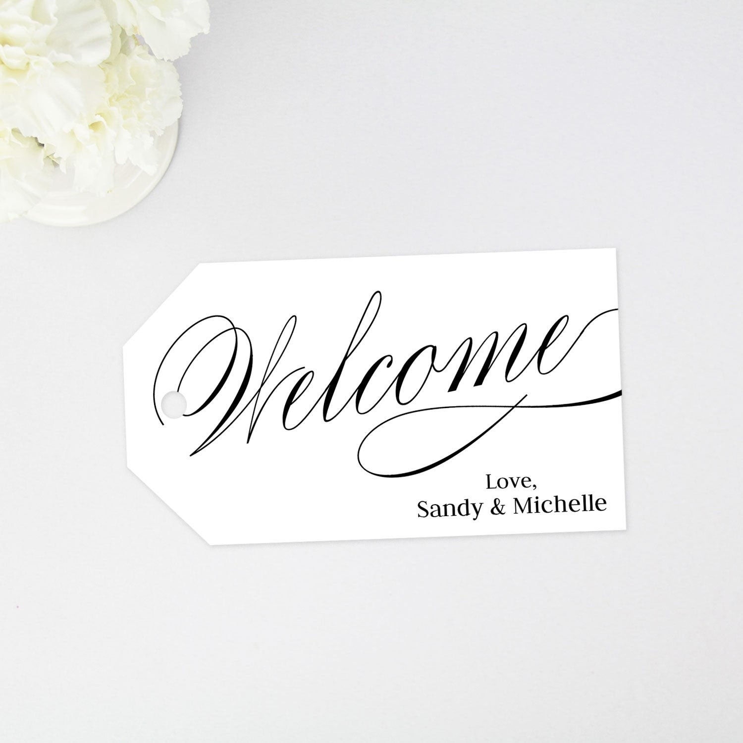 welcome tag