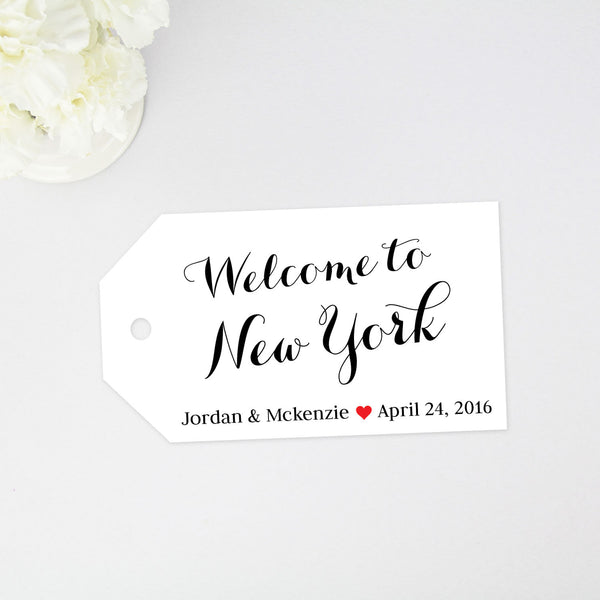 Welcome to New York Tag - Large Size - 36 Pieces