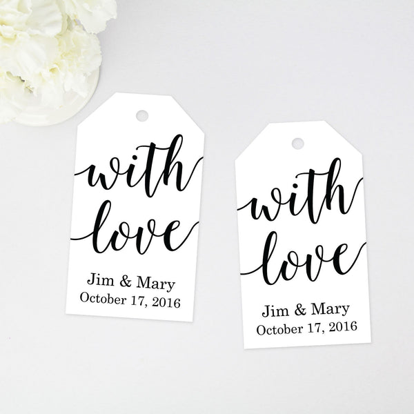 With Love Favor Tag - 40 Pieces