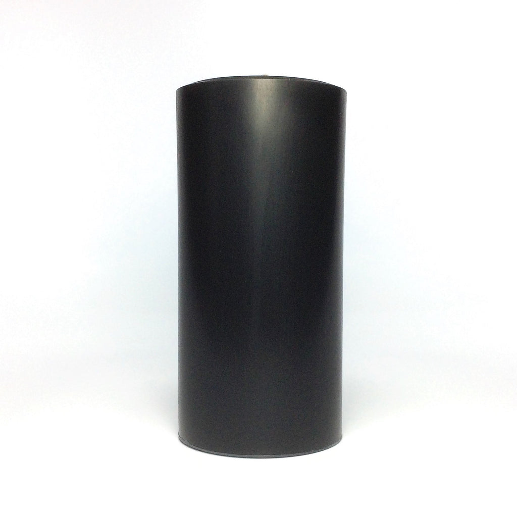 Black Unscented Pillar Candle