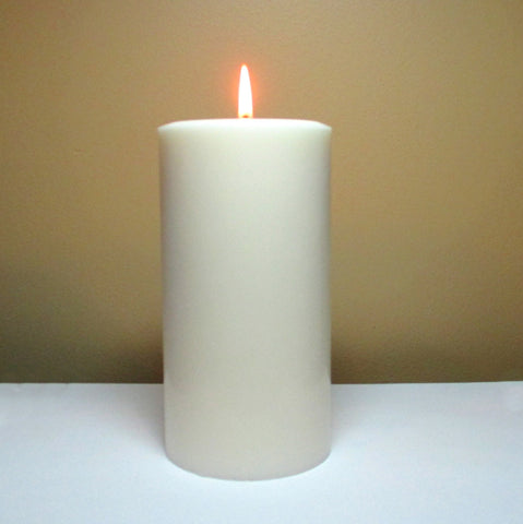 White Unscented Soy Pillar Candle - Still Water Candles - 1