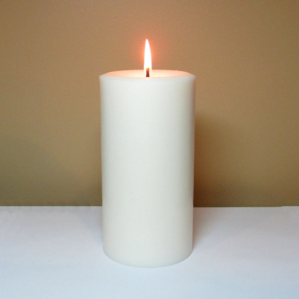 White Unscented Soy Pillar Candle - Still Water Candles - 3
