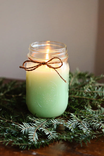 Cedar Scented Mason Jar Candle - Still Water Candles - 2