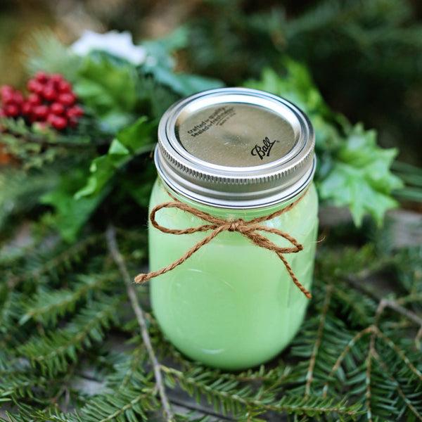 Cedar Scented Mason Jar Candle - Still Water Candles - 1