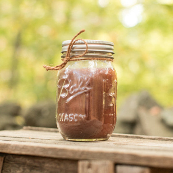 Leather Scented Mason Jar Candle - Still Water Candles - 1