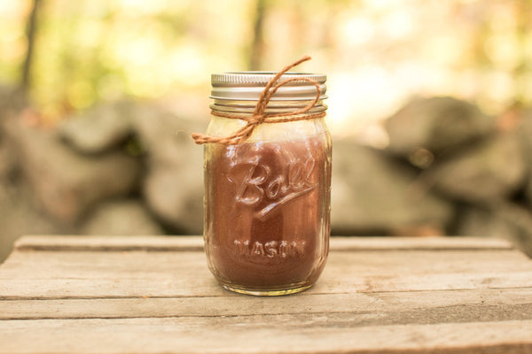 Leather Scented Mason Jar Candle - Still Water Candles - 3