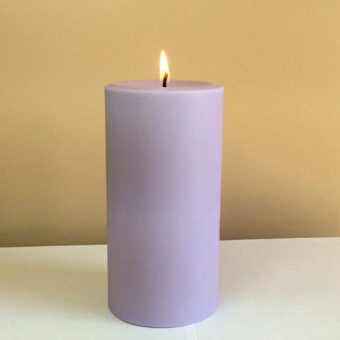 Light Purple Unscented Pillar Candle - Still Water Candles - 1