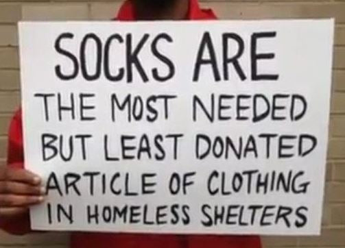 Canadian sock company helping with a sock drive