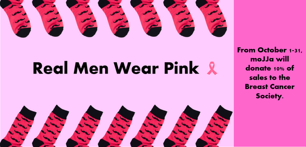 Real Men Wear Pink | Funky Pink Moustache Socks