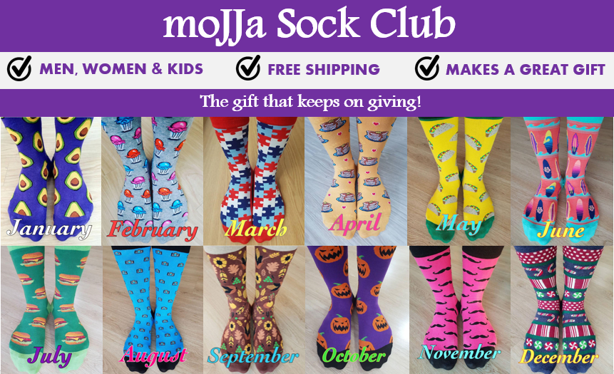 Sock of the Month Club get funky socks monthly