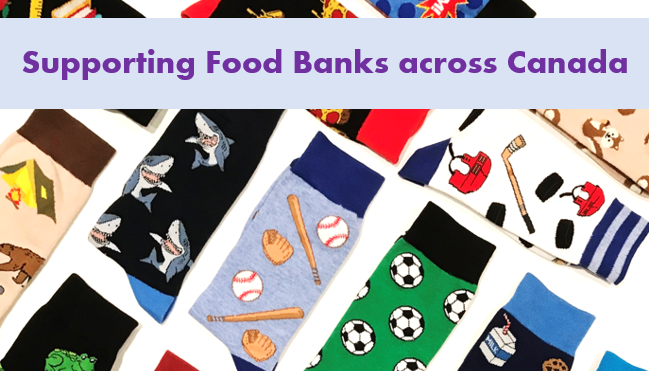 Supporting Food Banks Canada with socks sales