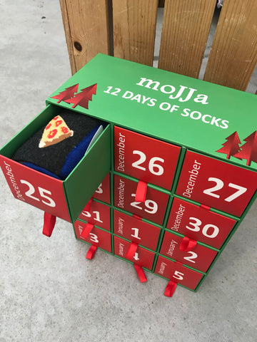 Socksmas starting Christmas Day Holiday Gift Box
