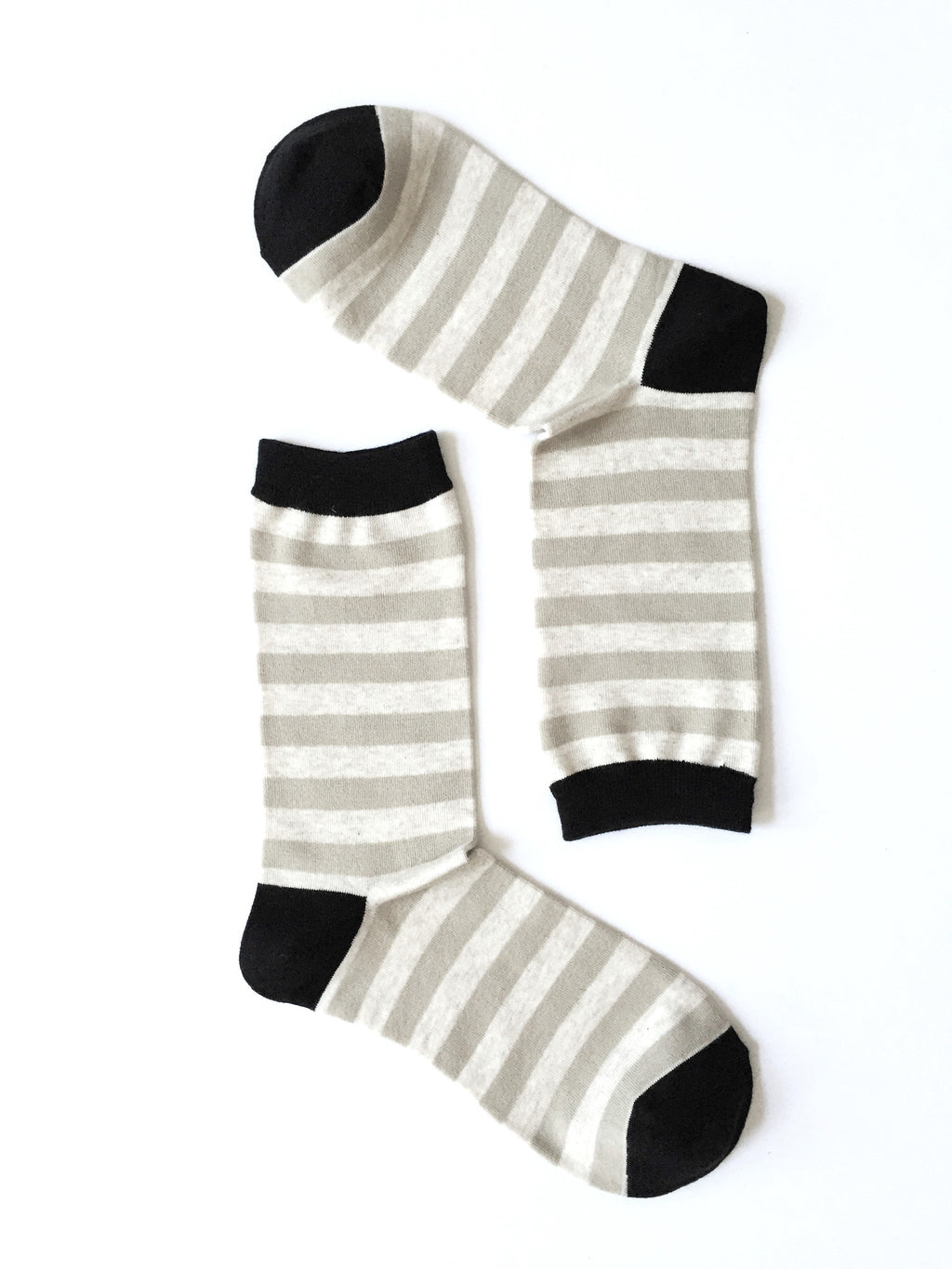 ZEBRA STRIPES BROWN CREW SOCKS