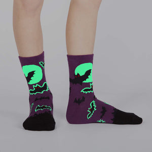 Children bat crew socks