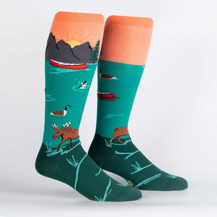 MOOSE KNEE HIGH FUN SOCKS