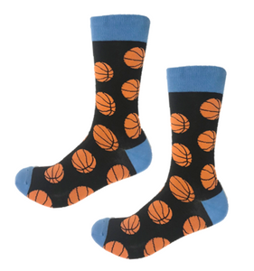 Funky basketball crew socks