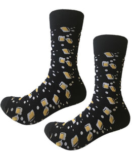 Start your day with cheers and these fun beer crew socks