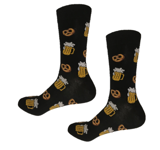 Beer and Pretzel funky crew socks