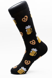 Beer and Pretzels Funky Crew Socks