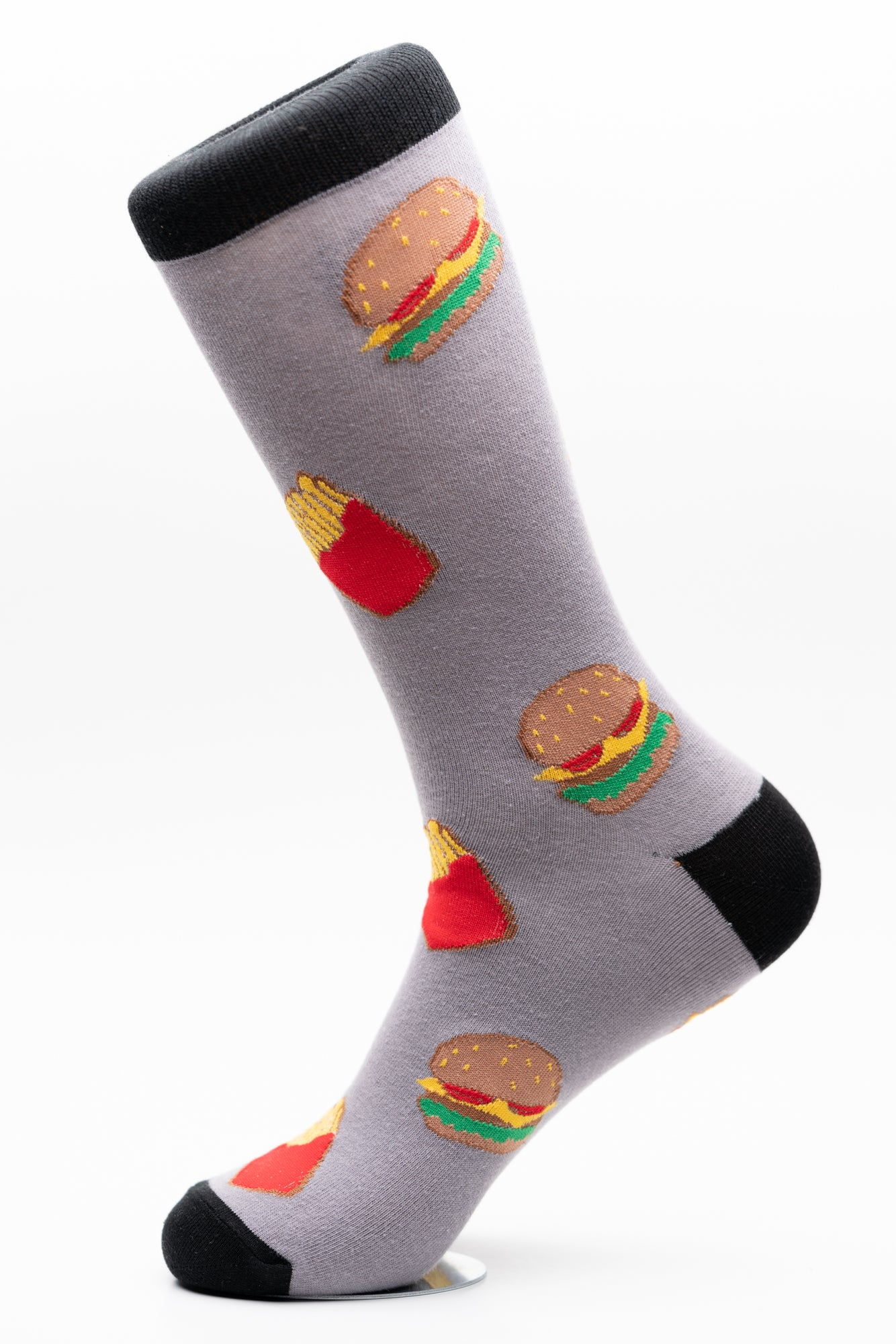 Burger and Fries Crew Socks Funky