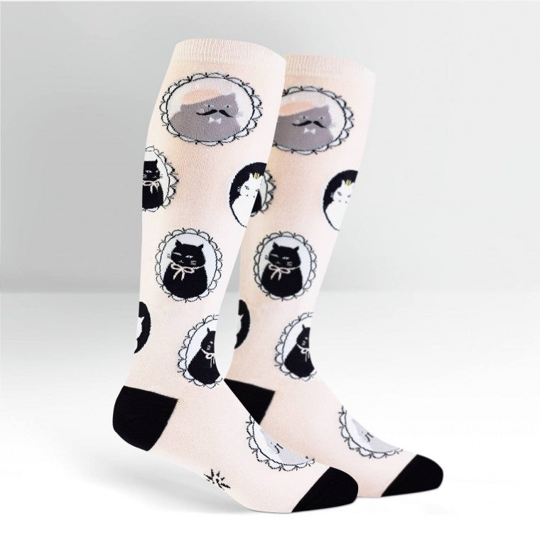 CAT MEOW KNEE HIGH SOCKS from awesome Canada store.