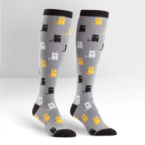 Funky Knee High Socks | Winking Cats