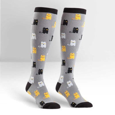 Winking Cats Knee High Socks