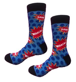 Comic book funky crew socks blamo