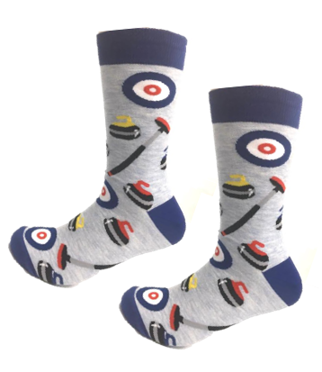 Curling fun crew socks