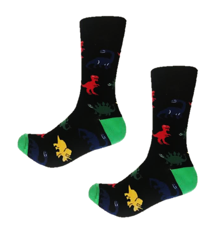 Funky Dinosaur crew socks from Canada online sock store