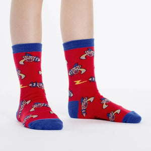 Ray guns rockets crew socks