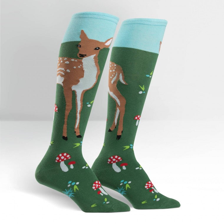 Funky Knee High Socks | Fawn Memories by Sock it to Me