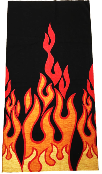 Fire print on head wear_front