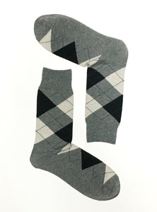 Fun argyle crew socks