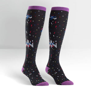 Space invader knee high socks from Canada funky online store