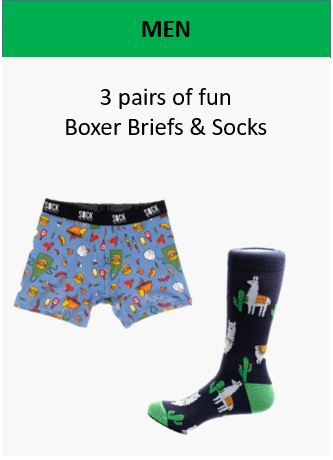 Holiday Gift Box Men Fun Underwear and Socks