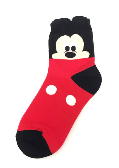 Mickey Mouse character ankle socks