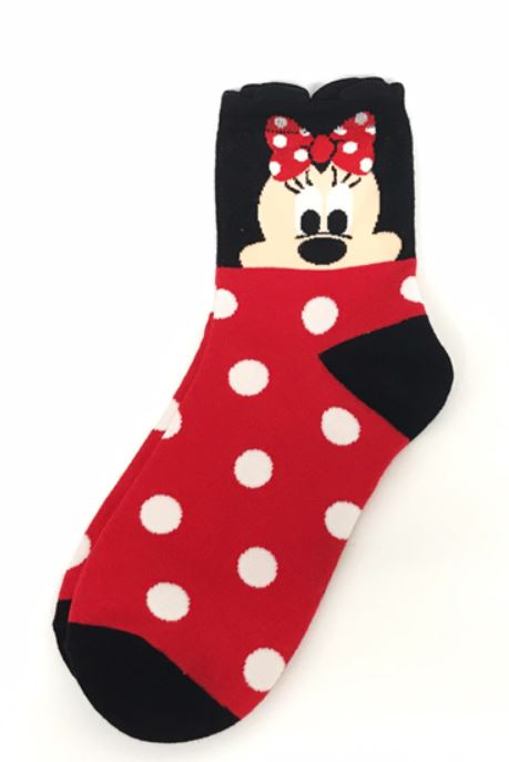 Mini Mouse character ankle socks