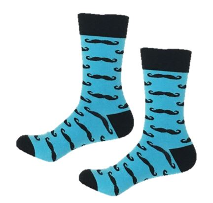 Silly mustache socks that will make your feet wacky