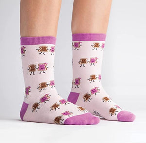 Peanut butter and jam crew socks children