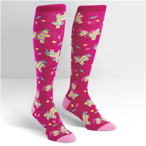 PINATA KNEE HIGH FUN PARTY SOCKS