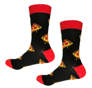 Funky pizza crew socks that make dinner fun