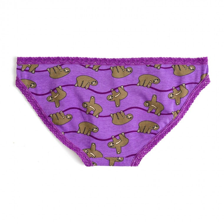Sloth Bikini Brief Underwear | Underwear of the Month Club