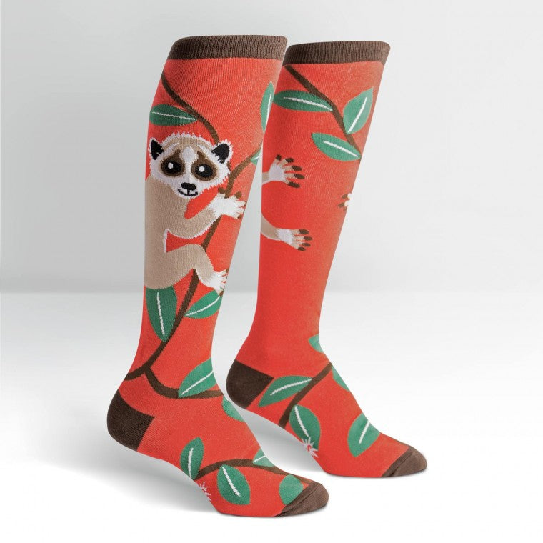 Funky Knee High Socks | Slow Loris by Sock it to Me