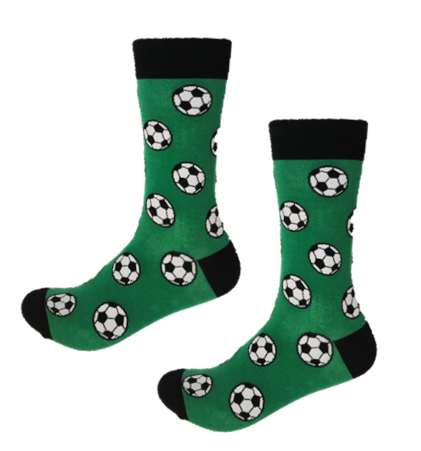 Funky soccer ball crew socks