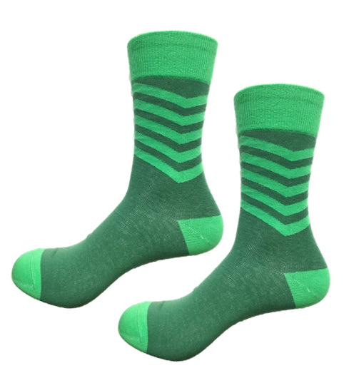 Get your game on with these superhero green funky socks