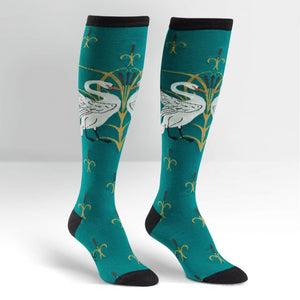 Funky Knee High Socks | Swan by sock it to me