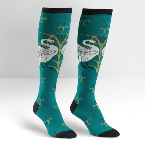 Swan Knee High Socks