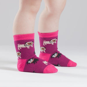 Pug crew socks for toddlers